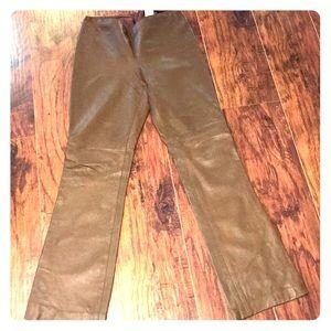 ABS ALLEN Schwartz size 8 leather pants